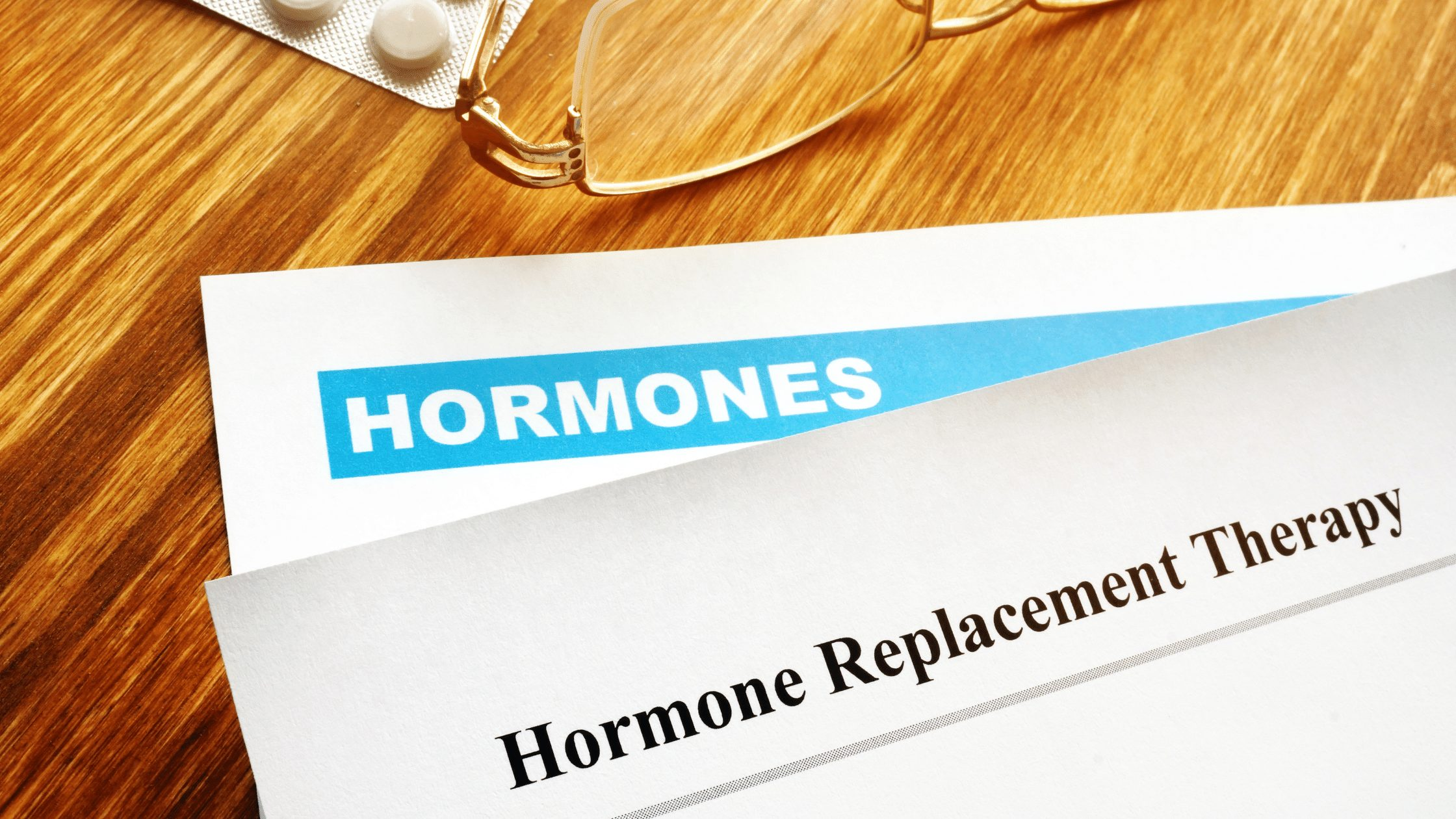 Hormone Replacement Therapy printed on a graphic