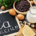 display of foods containing calcium